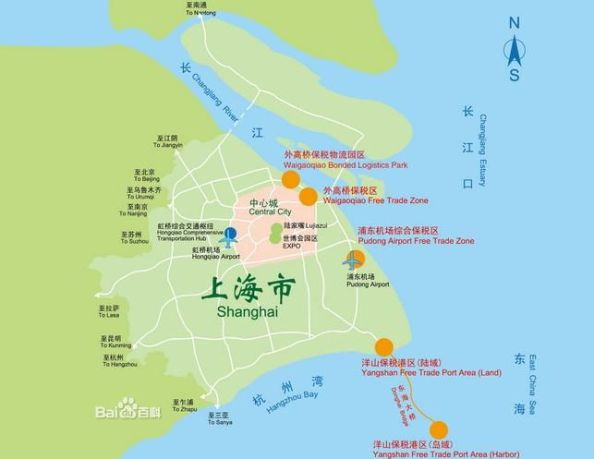 Shanghai Free Trade Zone Liming Map