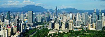 Shenzhen Futian Skyline (W)